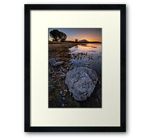 Rock Me Sunset Framed Print