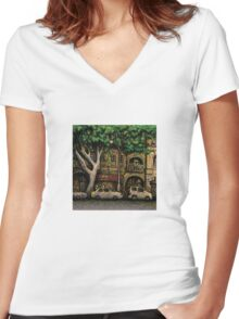 The Yellow House, Potts Point Women's Fitted V-Neck T-Shirt