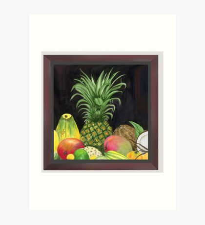 Tropical Pineapple & Fruitfriends Art Print