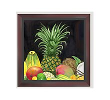 Tropical Pineapple & Fruitfriends Photographic Print