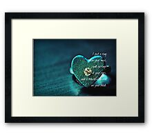 Put a Ring Framed Print