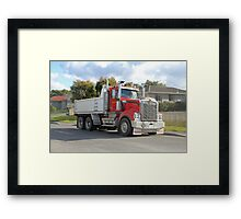 Rockit Tasmania - Kenworth at Work Framed Print