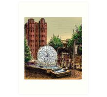 El Alamein Fountain, Kings Cross Art Print