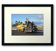 Rockit Tasmania - Laying down the Asphalt Framed Print
