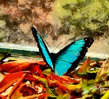 Monarch in Blue by John Thompson