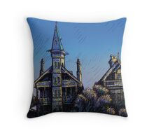 Witches' Houses, Johnston St, Annandale Throw Pillow