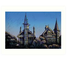 Witches' Houses, Johnston St, Annandale Art Print