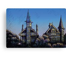 Witches' Houses, Johnston St, Annandale Canvas Print