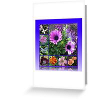 Singing of Summer - Floral Collage Greeting Card