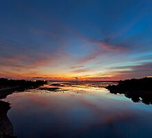 Reflecting Sunset of Bali by Dale Allman
