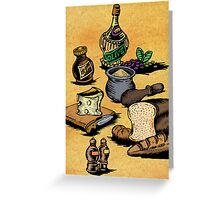 Mediterranean Foods Part Two Greeting Card