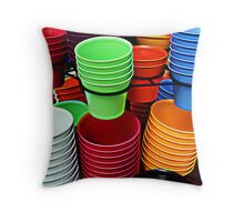 colorful pots Throw Pillow