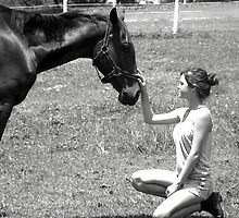 A Strong Bond - Horse and Owner  by Jennifer Rogers