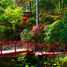 Portmeirion - Japanese garden, Wales by Simon Duckworth