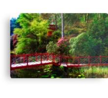Portmeirion - Japanese garden, Wales Metal Print