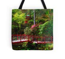 Portmeirion - Japanese garden, Wales Tote Bag