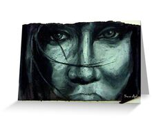 Woman in black and white Greeting Card