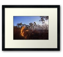 Outback Wild Fire Framed Print