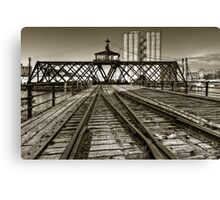 Milwaukee River Swing Bridge Canvas Print