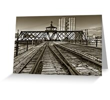 Milwaukee River Swing Bridge Greeting Card