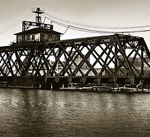 Milwaukee River Swing Bridge 2 by DavidHoefer