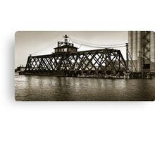 Milwaukee River Swing Bridge 2 Canvas Print