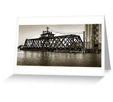 Milwaukee River Swing Bridge 2 Greeting Card