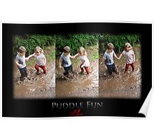 kids playing in a puddle  Poster