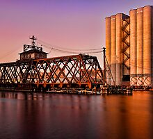 Milwaukee River Swing Bridge 3 by DavidHoefer