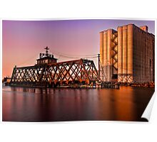 Milwaukee River Swing Bridge 3 Poster