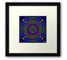 Bubbles and ribbon Framed Print