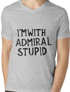 Admiral Stupid Mens V-Neck T-Shirt