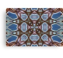 Blue and Brown Canvas Print
