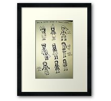 How to Survive Winter in 9 Costumes Framed Print