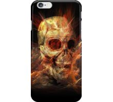 Skeleton in Flames iPhone Case/Skin
