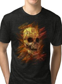Skeleton in Flames Tri-blend T-Shirt