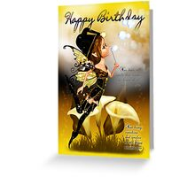 Autumn Fairy Birthday Greeting Card Greeting Card