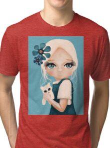 Snow Kitten Tri-blend T-Shirt