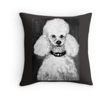 Charlie the Poodle  Throw Pillow