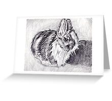 Scraggly Bunny Greeting Card