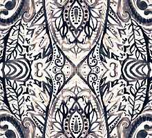 Monochrome Damask Jungle by Tangerine-Tane