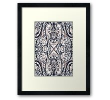 Monochrome Damask Jungle Framed Print