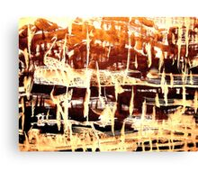 tribal village.... tranquil  Canvas Print