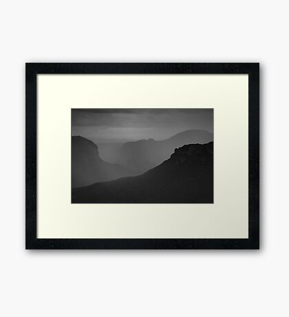 Rain in the Valley Framed Print