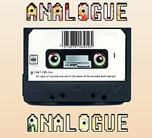 Cassette Tape Analogue Cartoon 1 by Grant Wilson