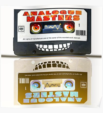 Cassette Tape Analogue Cartoon  2 Poster