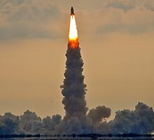 Endeavour's lift off  by Davidsdigits