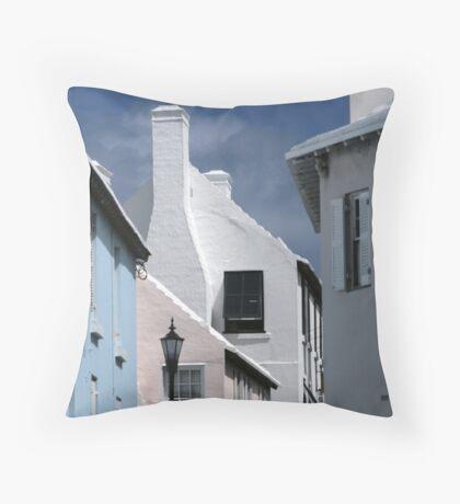 Bermuda Buildings Throw Pillow