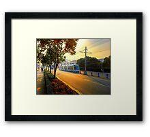 Sunset&Trolley Framed Print