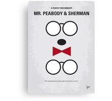 No324 My Mr Peabody minimal movie poster Canvas Print
